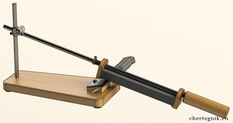 Заточка ножей и точилка своими руками, приспособления, станок и чертежи, правила