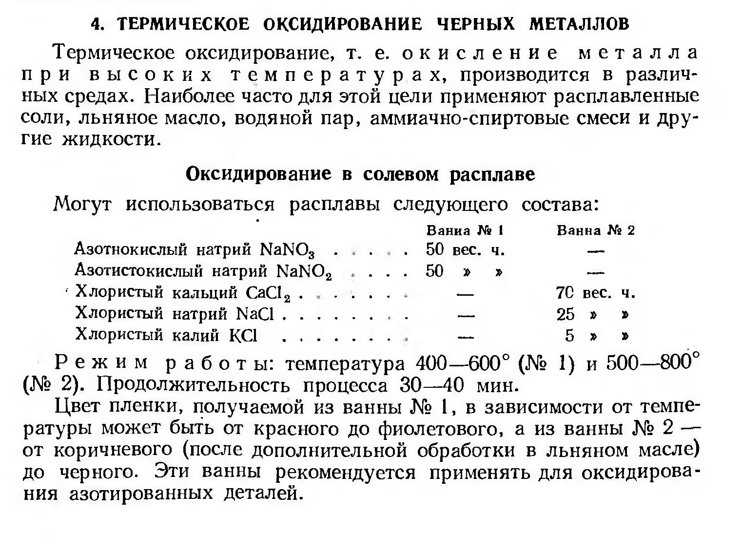 Воронение металла в домашних условиях: состав для оксидирования стали на rocta.ru