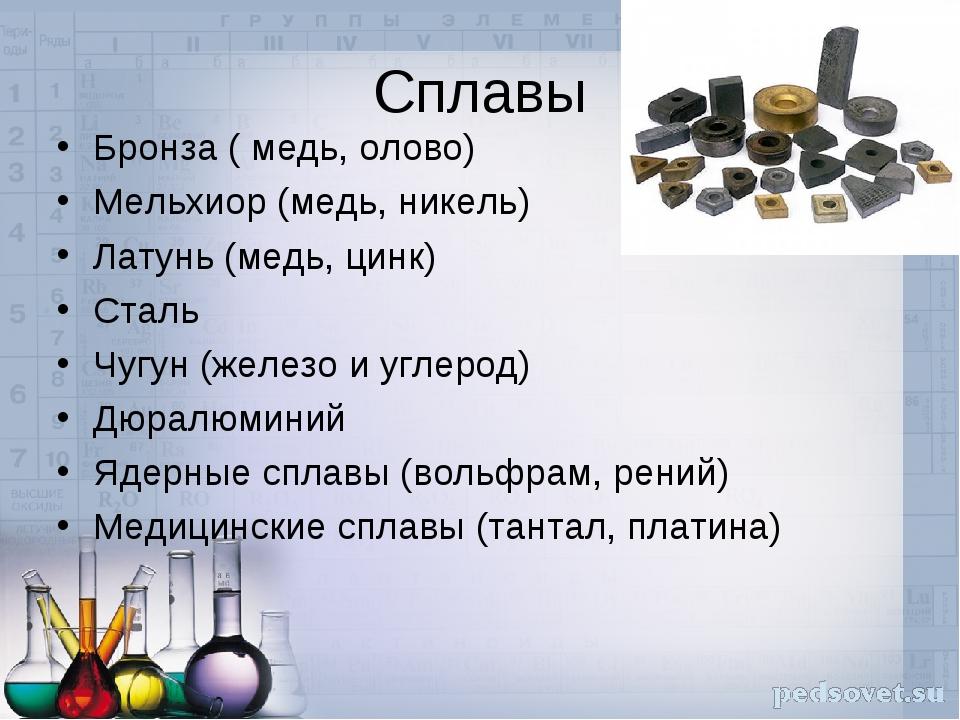 Сплавы меди: названия, состав, химические и физические свойства