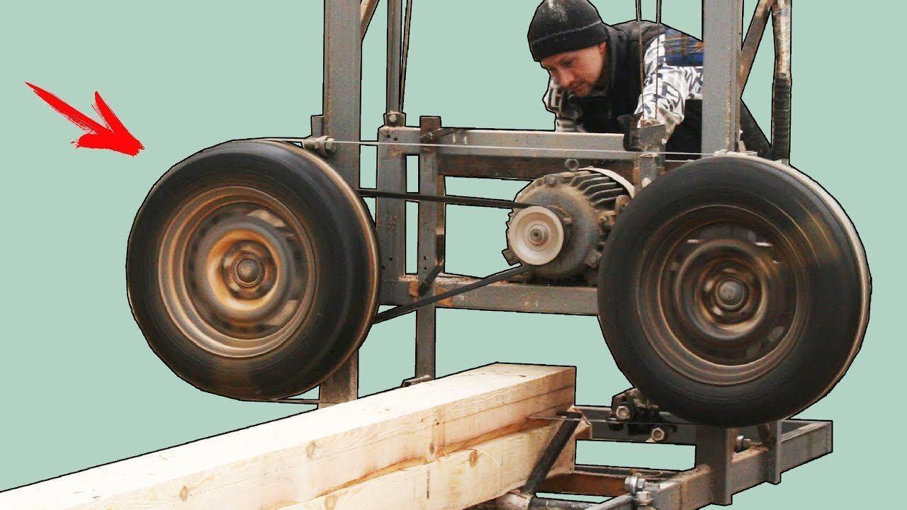 Пилорама своими руками: шинные, ленточные и другие самодельные конструкции, видео и фото