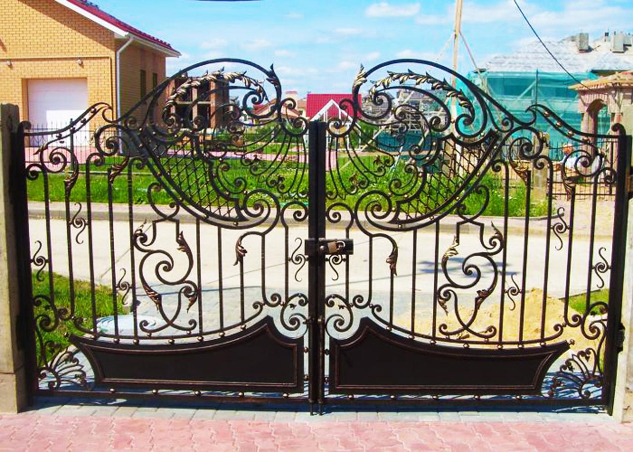 Купить кованые ворота с калиткой под ключ в москве по низкой цене от 3500 руб
