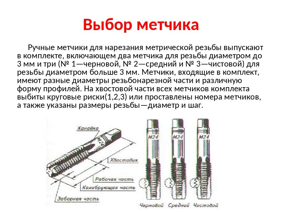 Калибровка резьбы метчиком - металлы и металлообработка