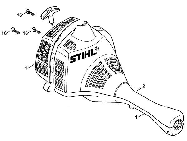 Stihl fs 55 установка катушки