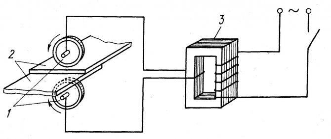 Контактная точечная и шовная сварка, её определение и сущность,   схемы, технология и оборудование