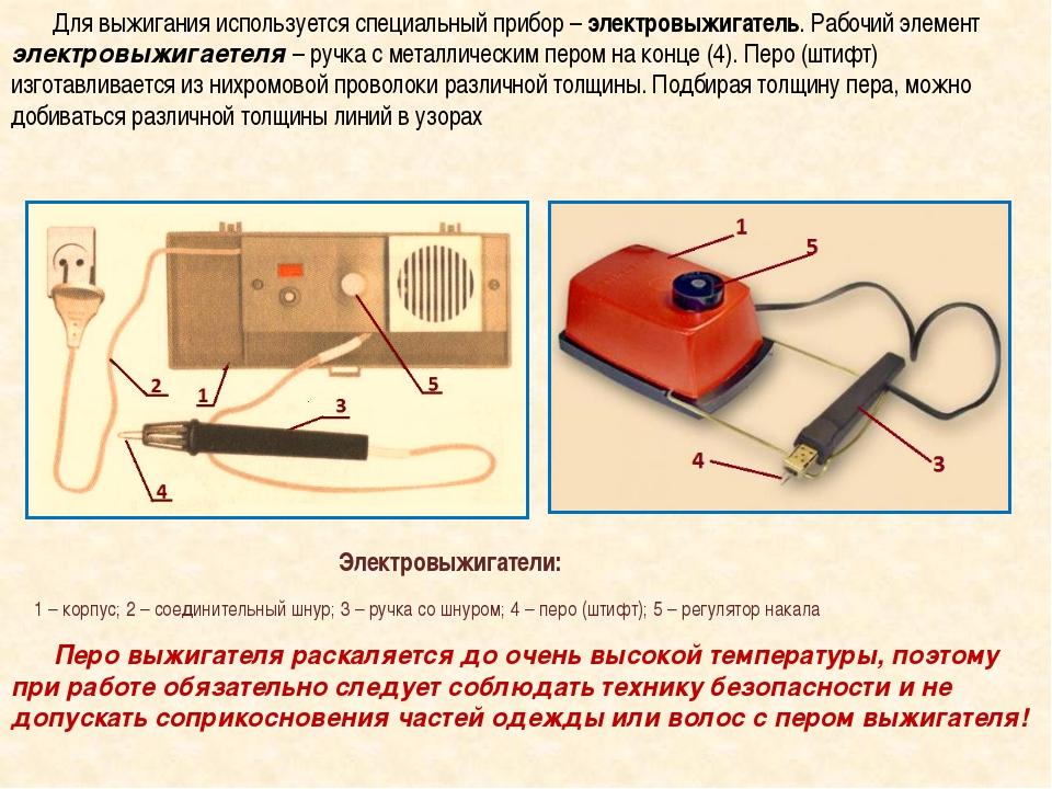 Заводской и самодельный аппарат для выжигания по дереву
