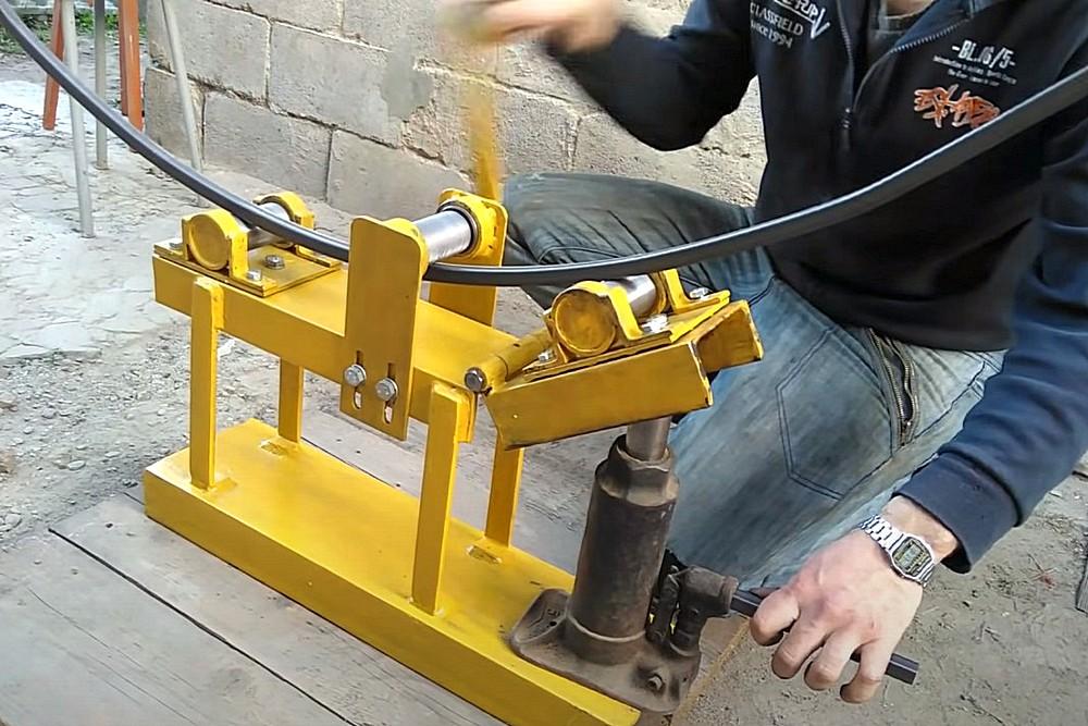 Трубогиб для профильной трубы своими руками: устройство, чертежи, размеры и инструкция по сборке