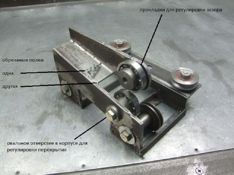 Роликовый нож для резки металла своими руками - металл