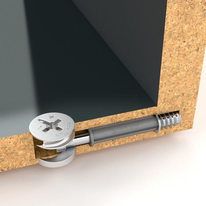 Стяжка эксцентриковая мебельная: как работает, монтаж, инструкция