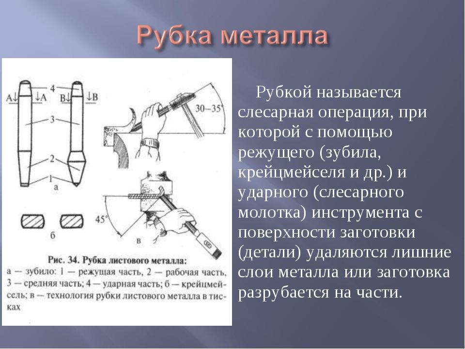 Рубка металла, что это такое, какие инструменты используются, применяемые приемы, слесарные операции, определение – на rocta.ru