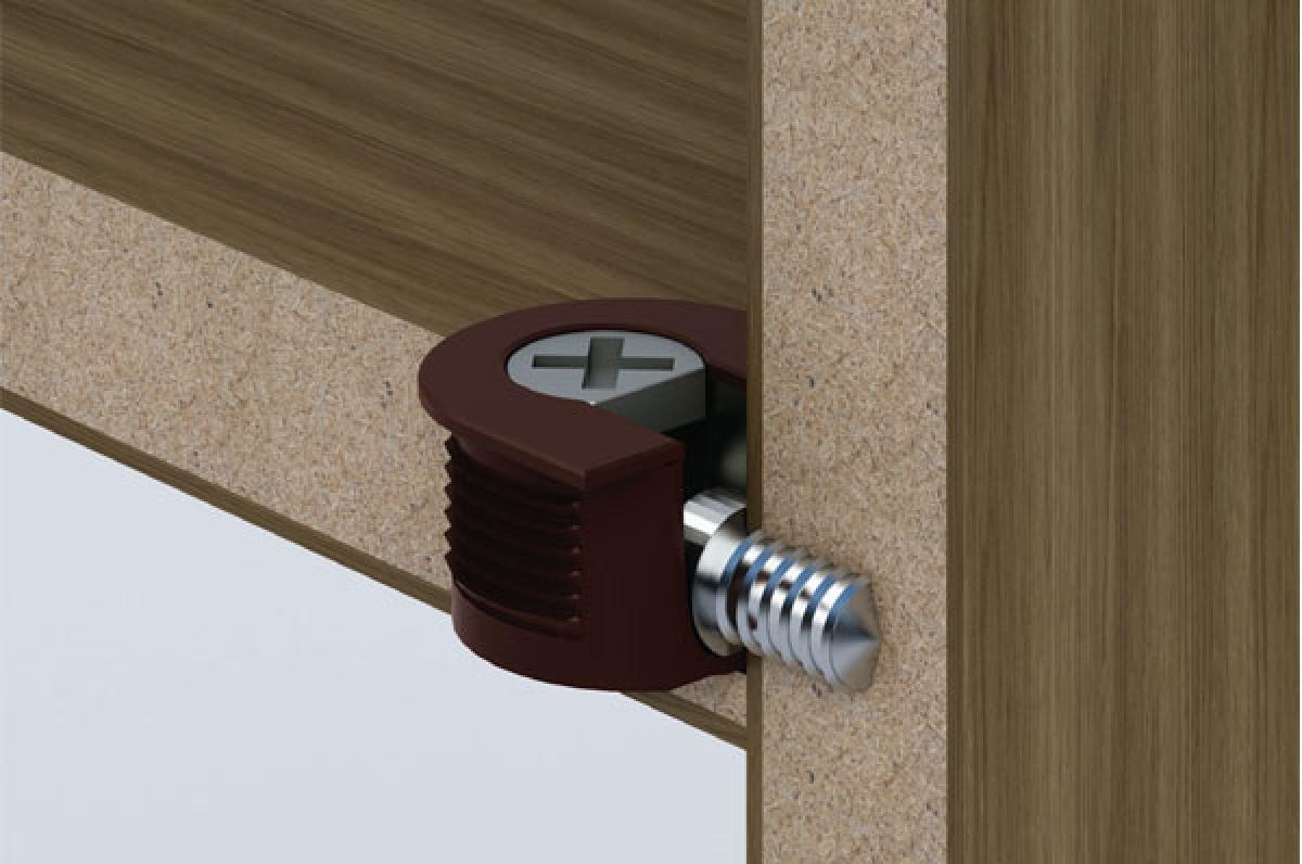 Эксцентриковая стяжка для мебели: как установить, видео с установкой эксцентриковой мебельной стяжки, разметка и сверление