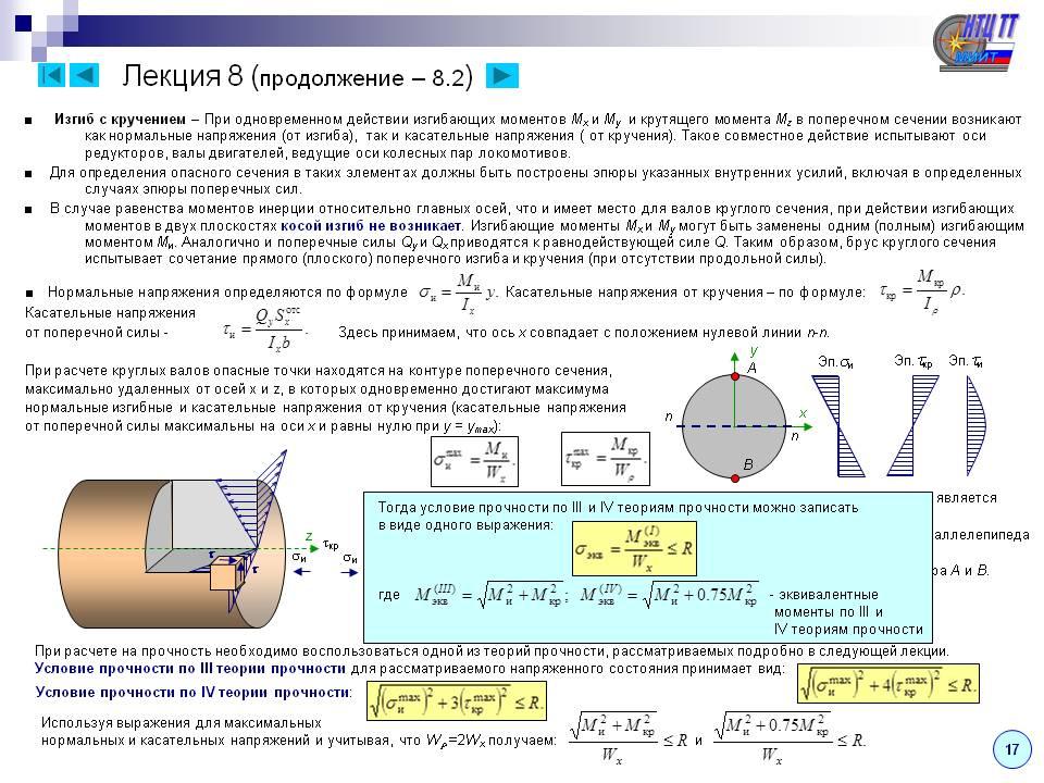 Кручение - лекции и примеры решения задач технической механики