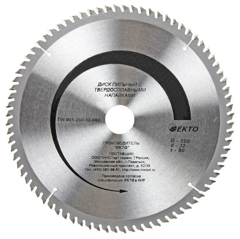 Пильные диски по дереву, размеры и другие технические параметры - rodan.ru