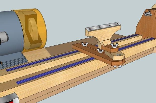 Самодельный патрон для токарного станка по дереву - металл