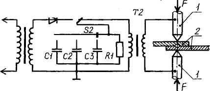 Конденсаторный сварочный аппарат для аккумуляторов | 2 схемы