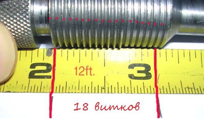 Соответствие резьбы в дюймах и миллиметрах