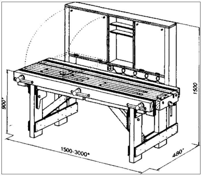 Виды и изготовление столярного верстака своими руками