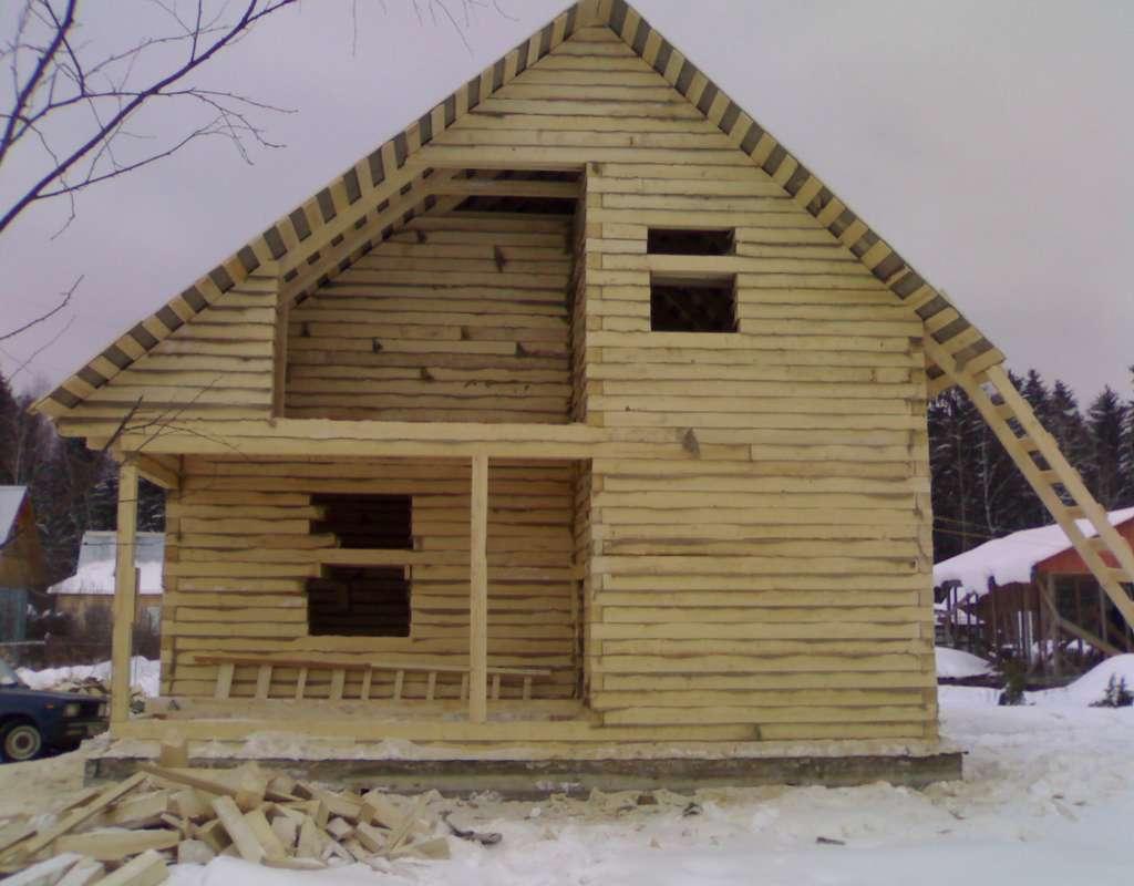 Недорогие дома из бруса под усадку (без отделки): проекты и цены в москве