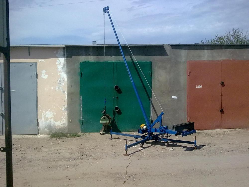 Самодельный кран для поднятия грузов - спецтехника от а до я.