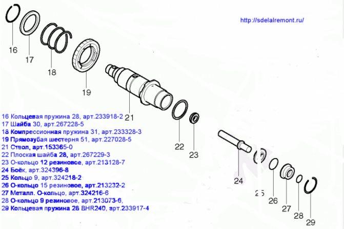 Как отремонтировать перфоратор своими руками: разборка, сборка, видео