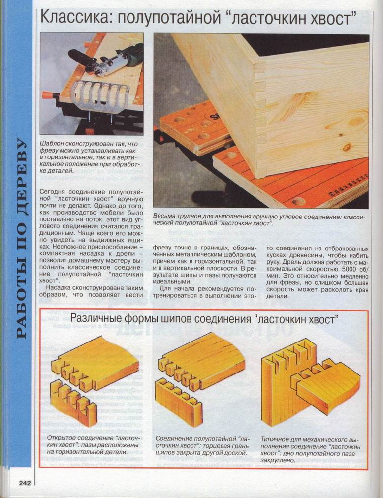 Соединение ласточкин хвост: типы, применение, проектирование - токарь