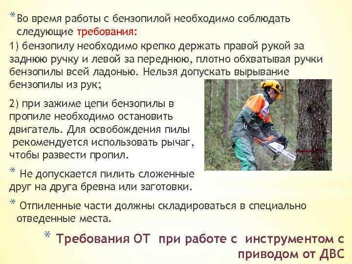Как пользоваться бензопилой: валка деревьев, распиливание бревен, запуск и обслуживание инструмента
