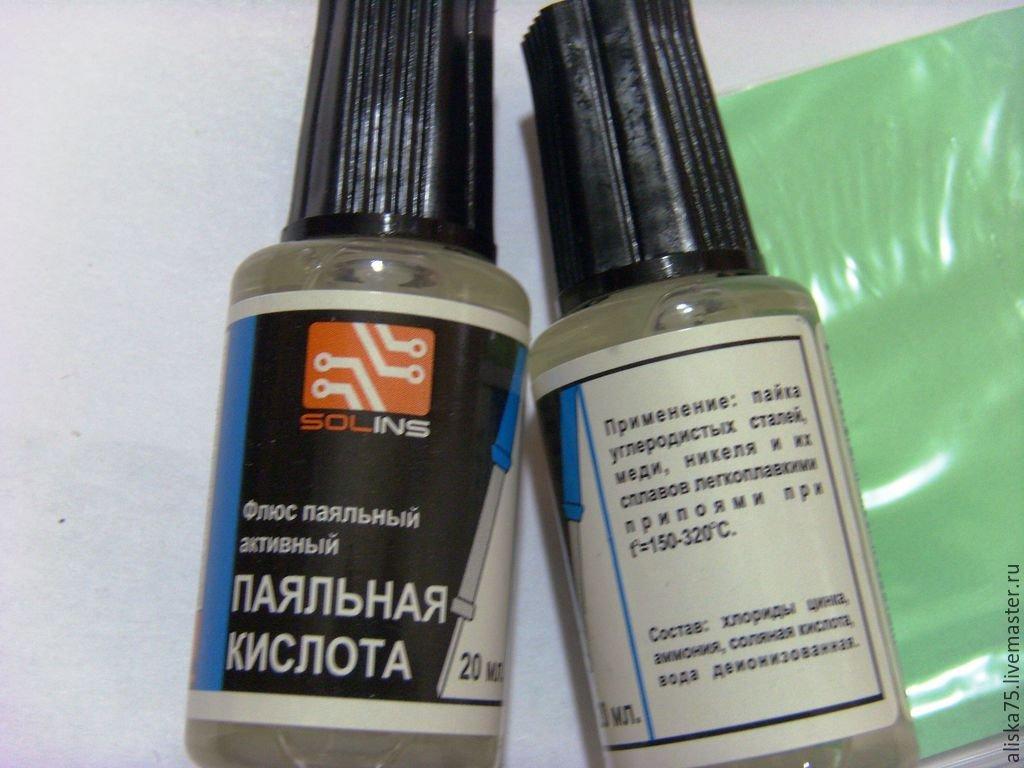 Паяльная кислота: состав и пайка с ее помощью медных и стальных деталей