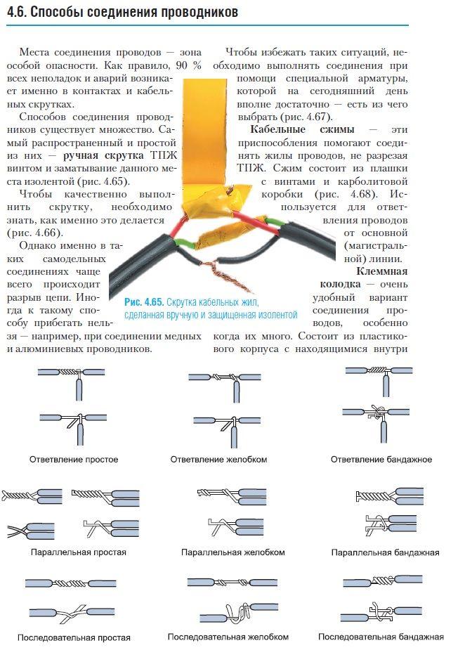 Соединение проводов в домашней электропроводке – самэлектрик.ру