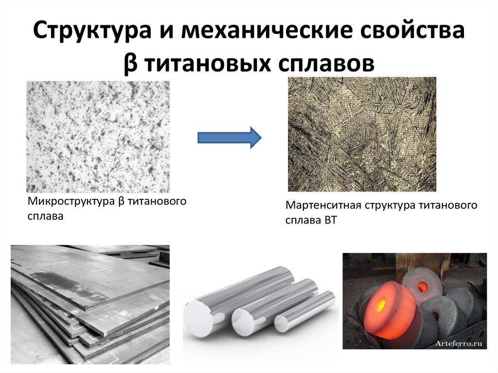 Титановые сплавы, их характеристика, применение и маркировка