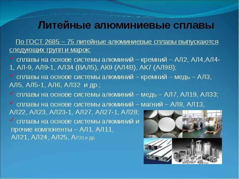 Марки алюминия – aluminium-guide.com