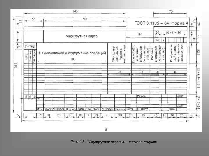 Гост 3.1118-82 «естд. формы и правила оформления маршрутных карт»