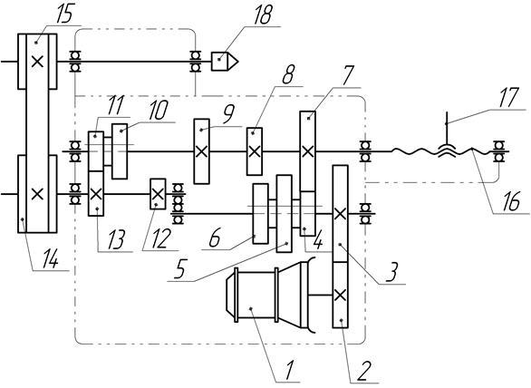 Электропривод и схема управления токарно — винторезного станка