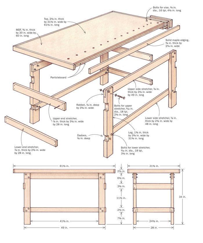 Как сделать слесарный верстак своими руками: советы по изготовлению металлического самодельного оборудования