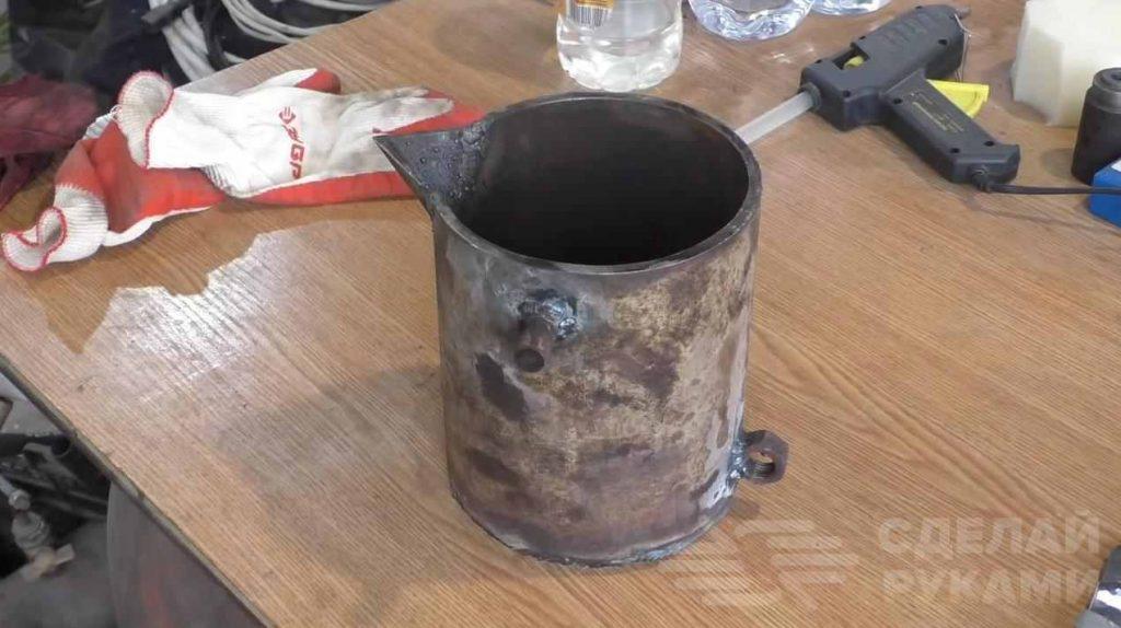 Тигель для плавки металла своими руками (для свинца, алюминия, серебра и т.п.)