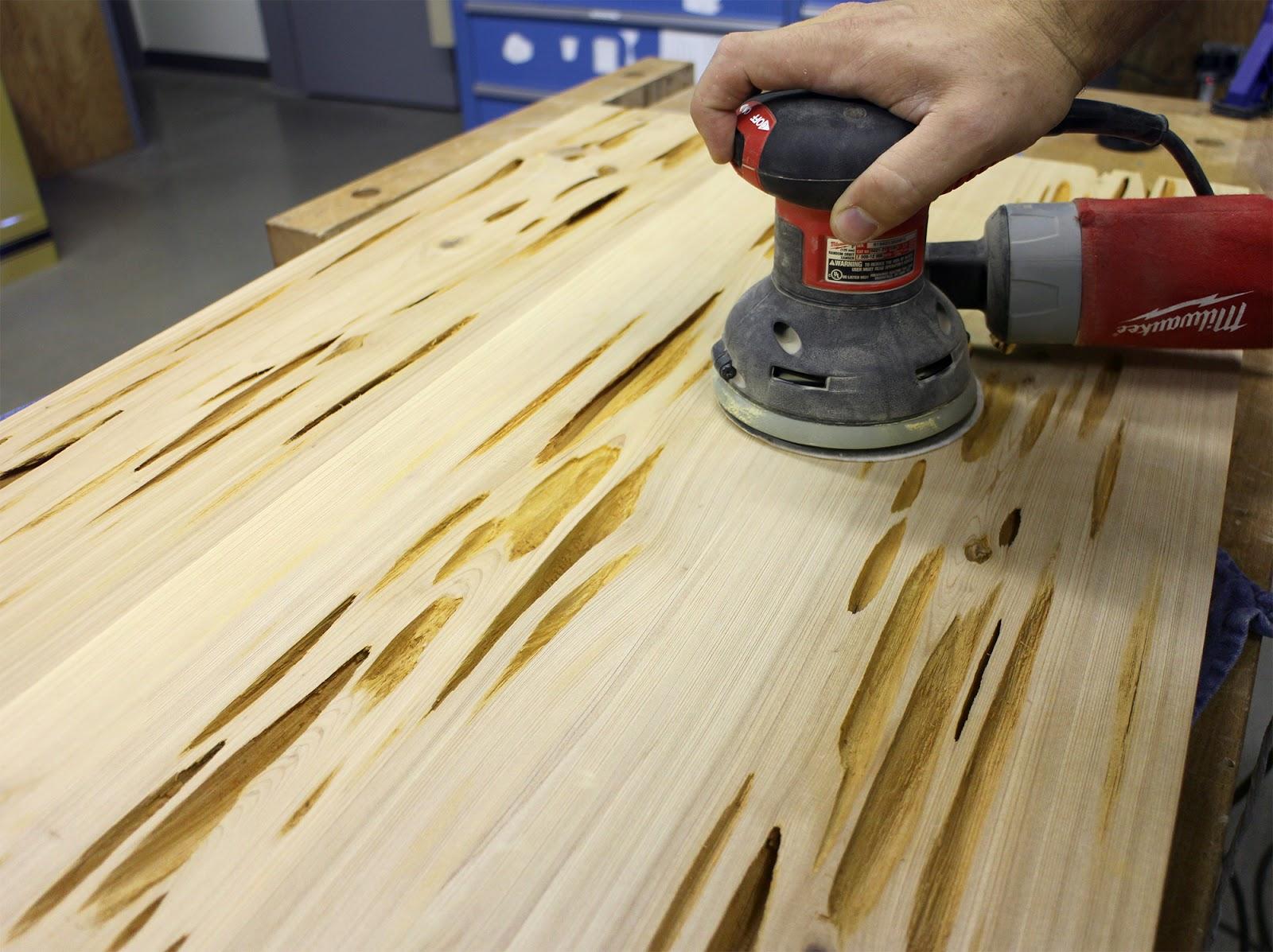 Полирование древесины