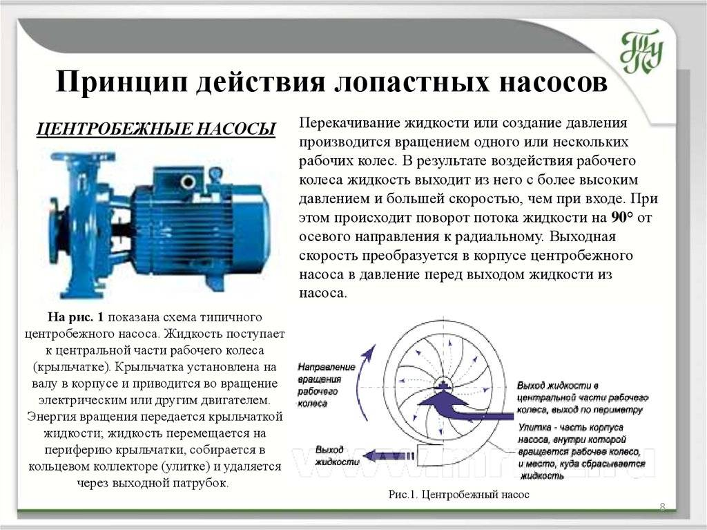 Типы центробежных насосов