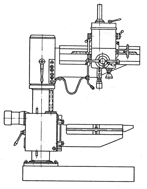 Технические характеристики радиально-сверлильного станка 2к52