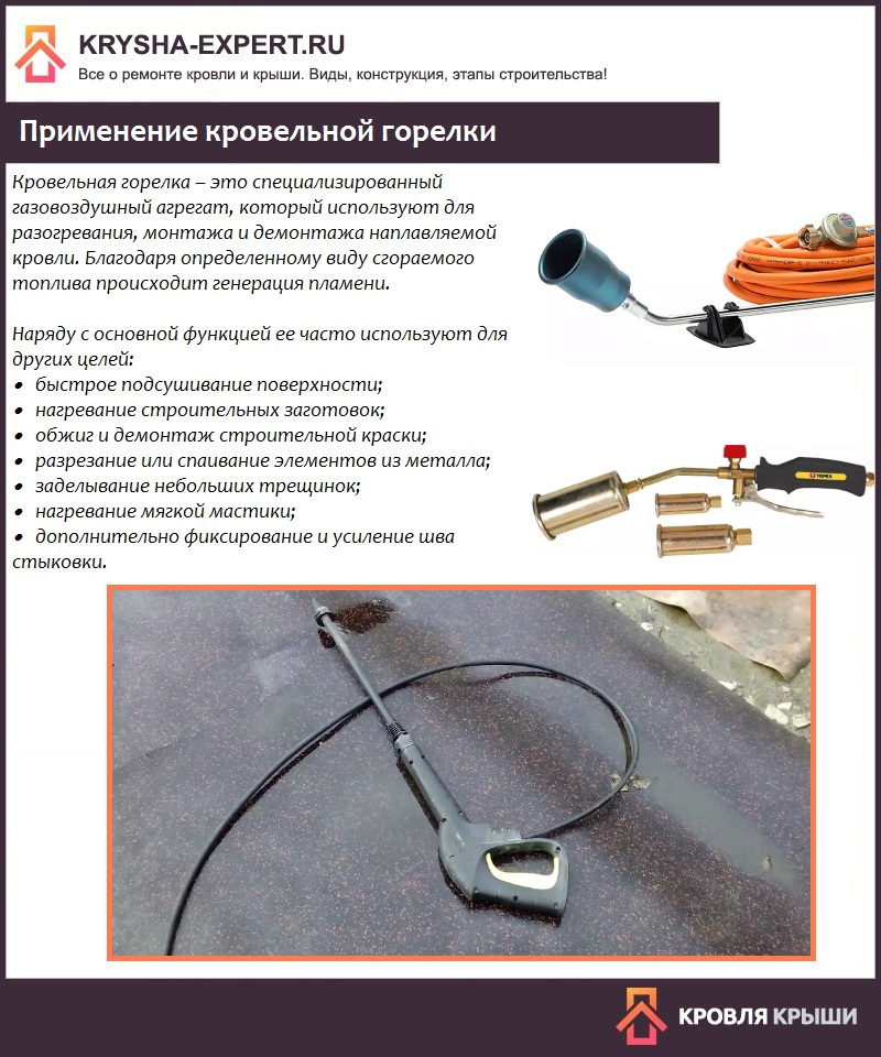 Кровельная горелка – необходимое оборудование для монтажа наплавляемой крыши