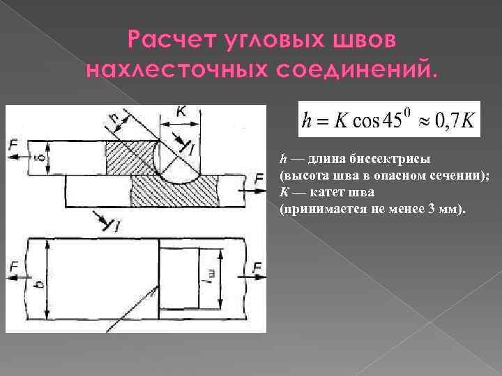 Геометрические размеры сварного шва (стыкового, углового): снип, гост