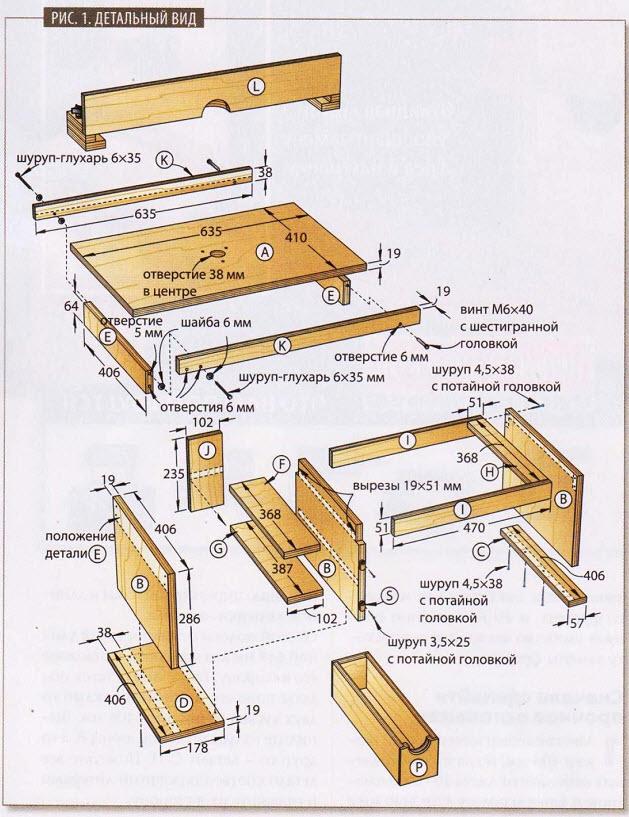 Делаем простой и надежный фрезерный стол своими руками - с чертежами, фото и видео