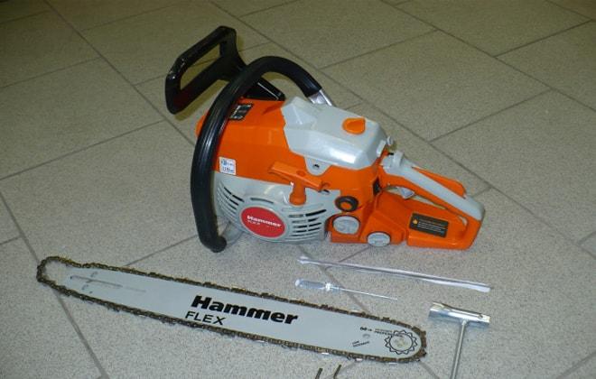 Бензопилы hammer (хаммер) — модели их характеристики