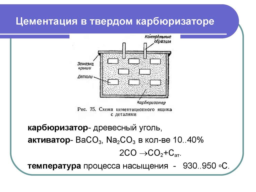 Особенности цементации металлов: технология процесса, выбор рабочей среды