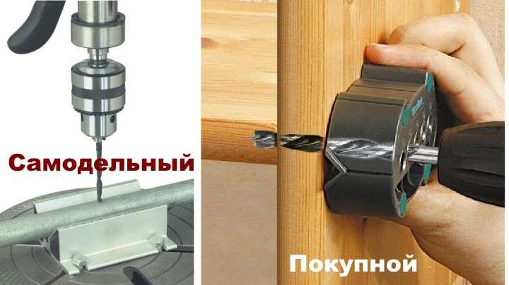 Все о кондукторах для мебельных петель