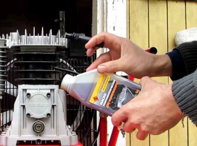 Какое масло заливать в компрессор поршневой воздушный?