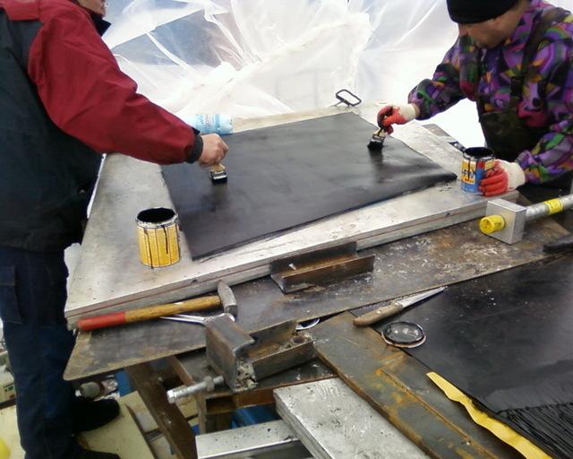 Как соединить транспортерную ленту своими руками - о металле