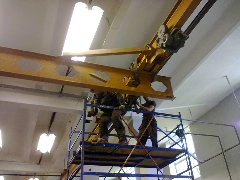 Подвесной кран: однобалочный, двухбалочный, грузоподъемностью 5 т, электрический, кр677, монтаж, двухпролетный, производители