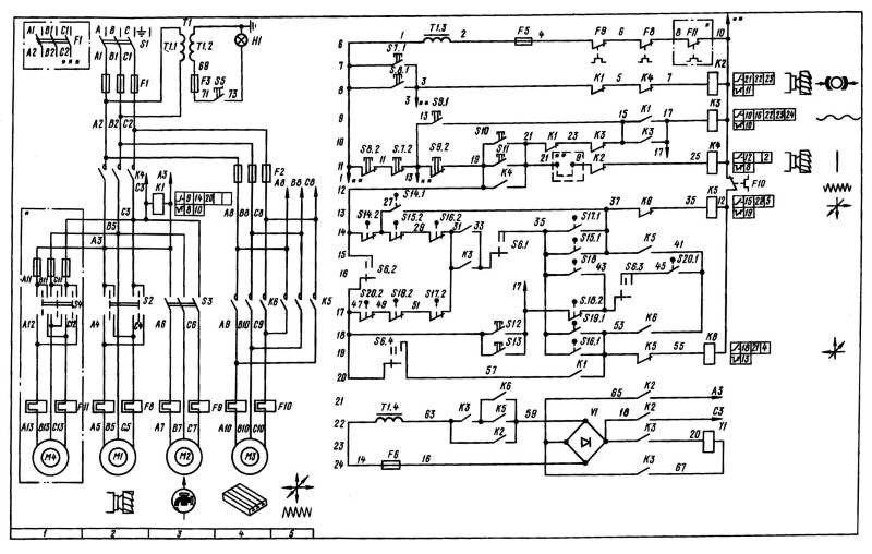 Фрезерный станок вм127 электросхема