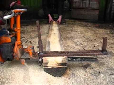 Как изготовить мобильную или стационарную пилораму из бензопилы своими руками — рассматриваем досконально
