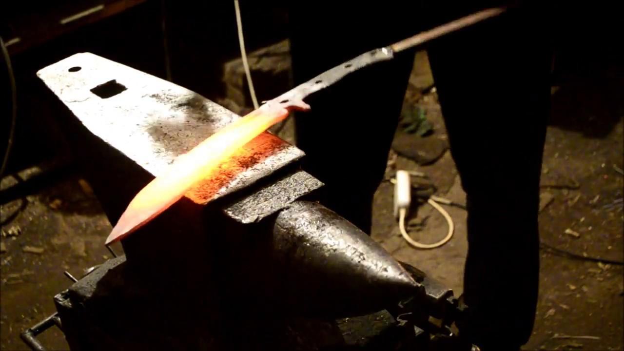 Ковка ножа из напильника и рессоры: поэтапное изготовление клинка