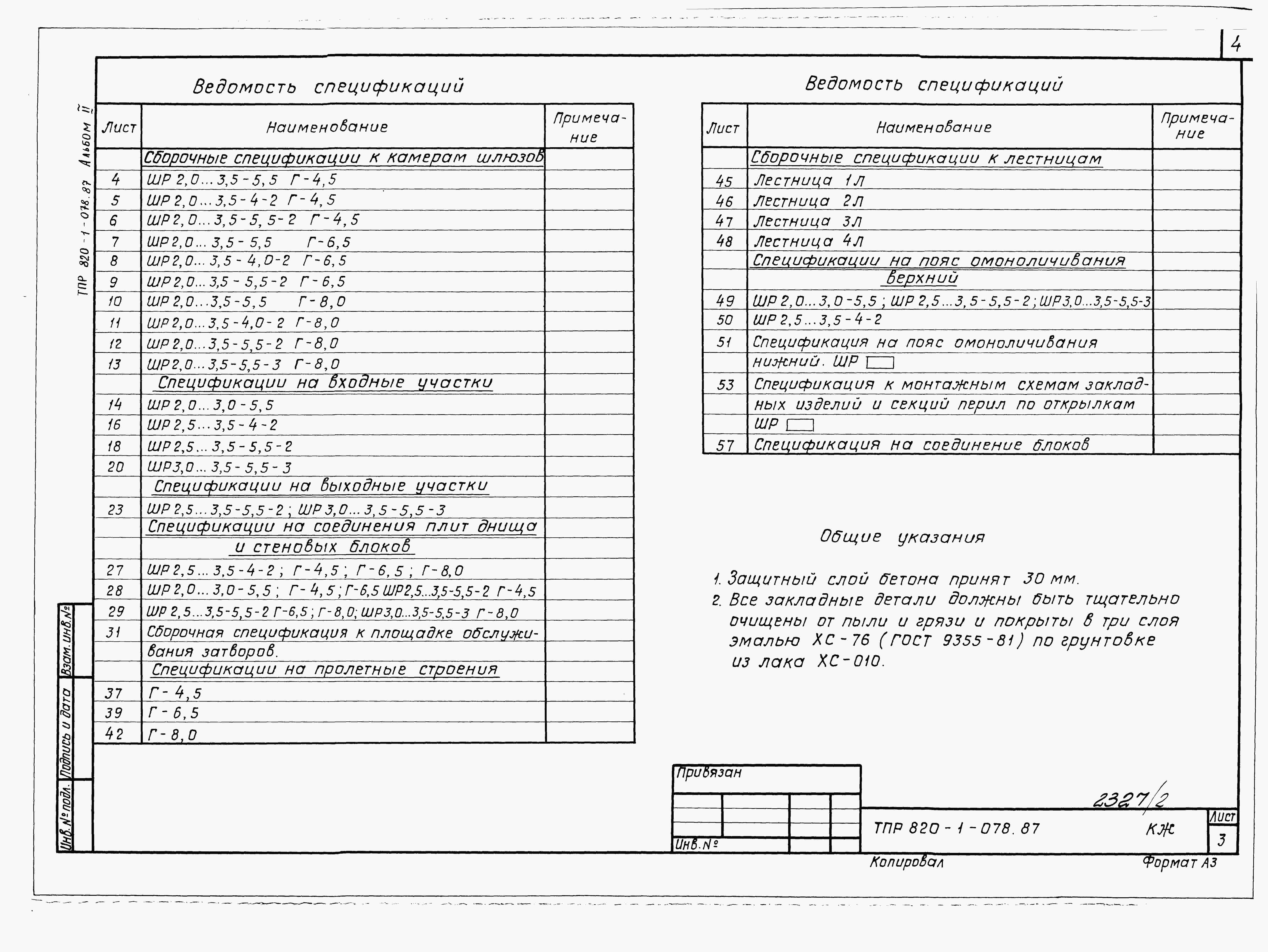 Ведомость спецификаций образец порядок заполнения - морской флот
