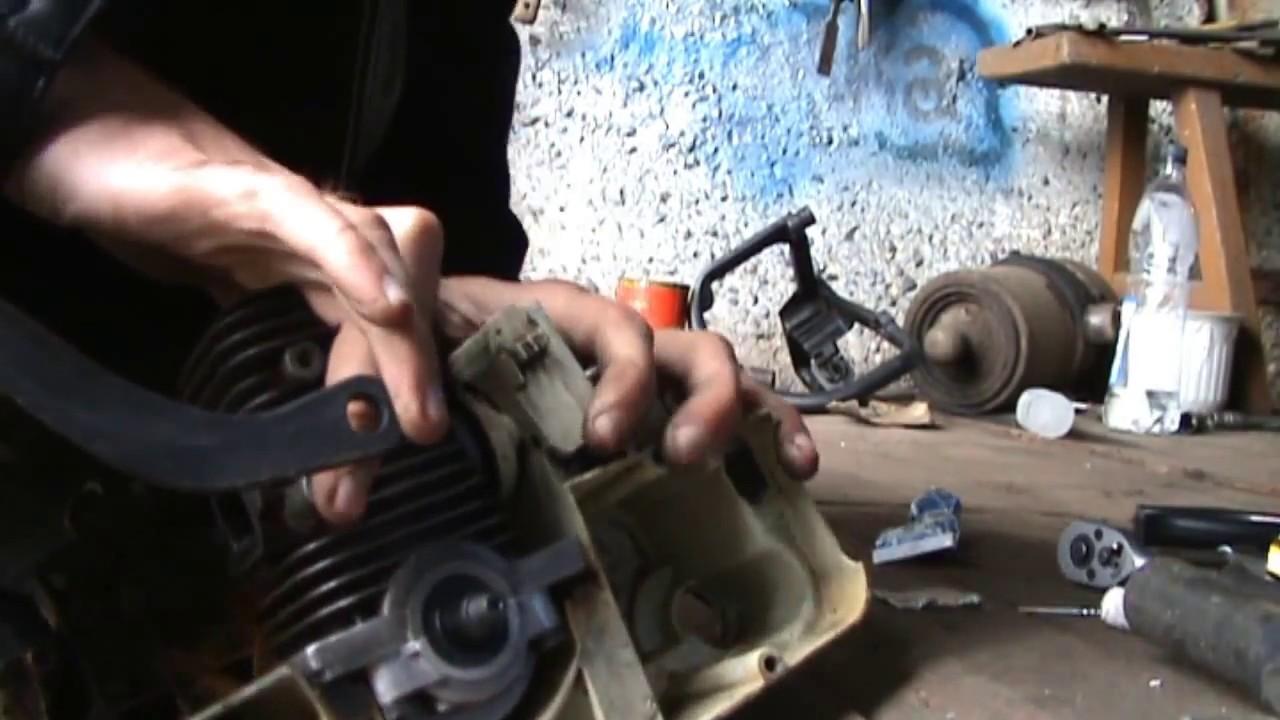 Как открутить сцепление на бензопиле штиль 180